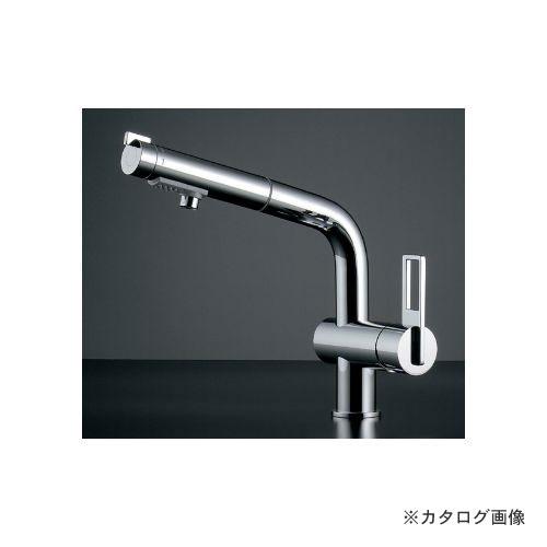 カクダイ KAKUDAI シングルレバー引出し混合栓 118-028