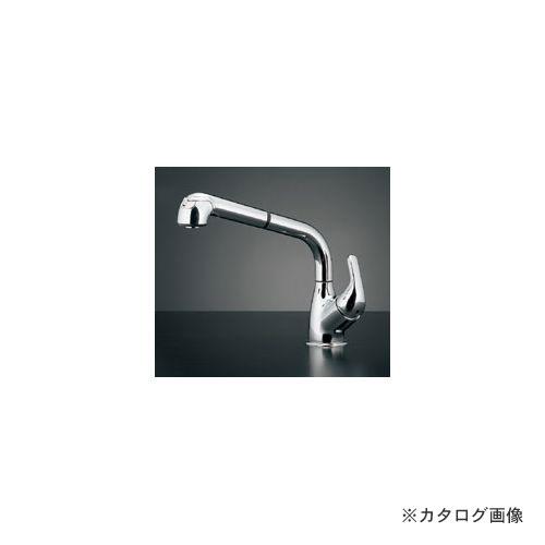 カクダイ KAKUDAI シングルレバー引出し混合栓 118-039