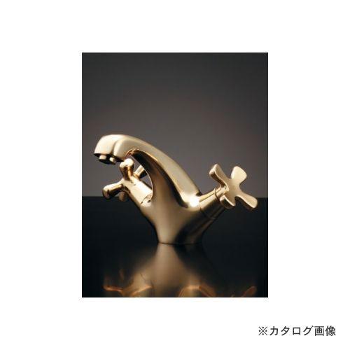 カクダイ KAKUDAI 2ハンドル混合栓(クリアブラス) (旧品番:150-437) 150-435-CG