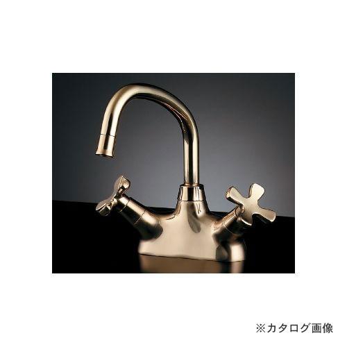 カクダイ KAKUDAI 2ハンドル混合栓(クリアブラス) (旧品番:151-204) 151-203-CG