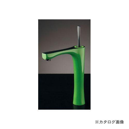 カクダイ KAKUDAI シングルレバー混合栓(トール・ライムグリーン) (旧品番:183-253) 183-235-GR