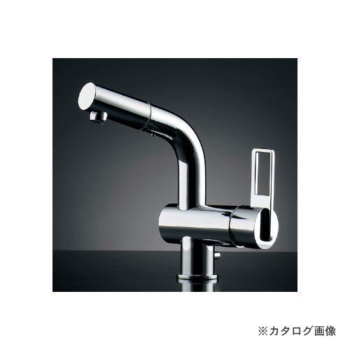 カクダイ KAKUDAI シングルレバー引出し混合栓(排水上部セットつき) 184-021