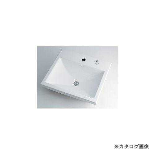 カクダイ KAKUDAI 角型洗面器//1ホール・ポップアップ独立つまみタイプ 493-003H