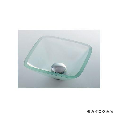 カクダイ KAKUDAI ガラス角型手洗器 493-029-C