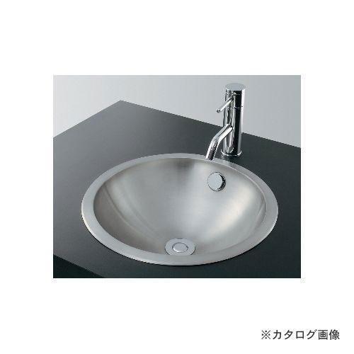 カクダイ KAKUDAI ステンレス丸型洗面器//ヘアライン 493-041