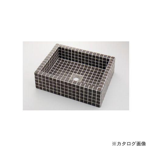 カクダイ KAKUDAI 角型洗面器//グレーブラウン 493-143-GB