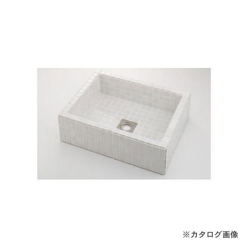 カクダイ KAKUDAI 角型洗面器//ホワイト 493-143-W