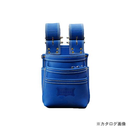 ニックス KNICKS KGBL-301DDX 最高級硬式グローブ革チェーンタイプ3段腰袋 ブルー (受注生産品)