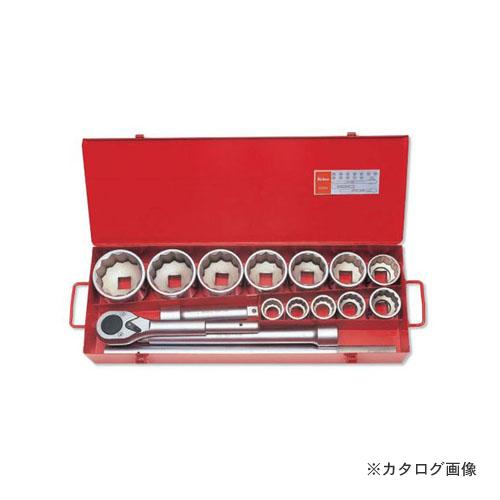 [宅送] コーケン 15ヶ組 12角ソケットメタルケースセット:工具屋「まいど!」 ko-ken 8225M 1(25.4mm) -DIY・工具