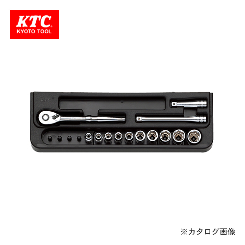 KTC 6.3sq. ソケットレンチセット(13点) TB210