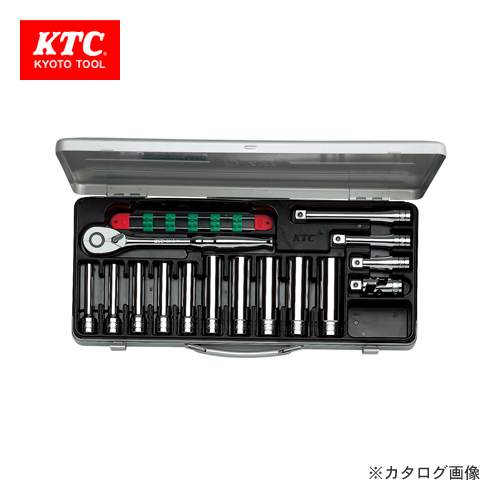 KTC 12.7sq. ディープソケットレンチセット(15点) TB4L10X