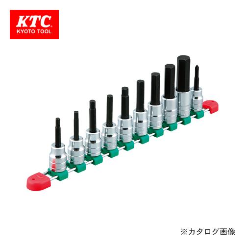 KTC 12.7sq.ヘキサゴンビットソケットセット(10コ組) TBT410H
