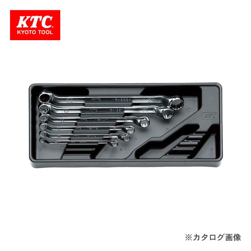 KTC めがねレンチセット(6本組) (45°×6°ロング) TM506