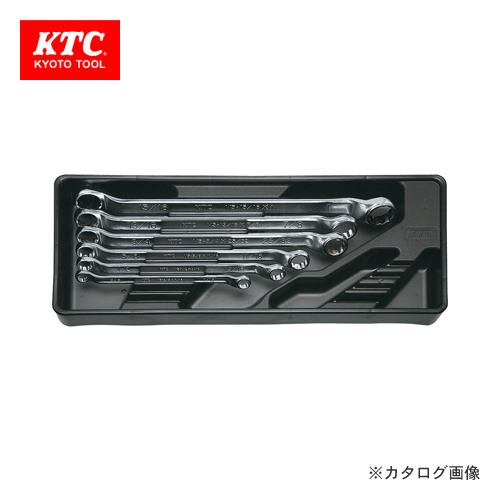 KTC めがねレンチセット(インチ) 6本組(45°×6°ロング) TM506B