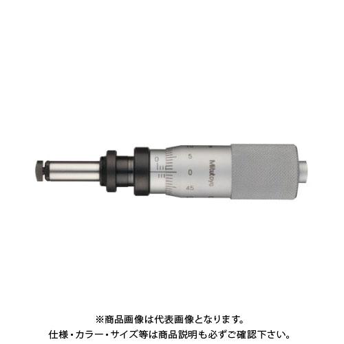 ミツトヨ Mitutoyo マイクロメータヘッド(高機能形) 極微動用 ナット付ステム 先端球面(SR10)(超硬合金チップ付) (110-107) MHF4-1
