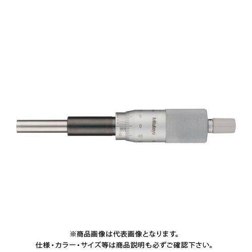 ミツトヨ Mitutoyo マイクロメーターヘッド(標準型) ストレートステム 平面 ラチェット付 バーニヤ付 (151-222) MHH1-25V