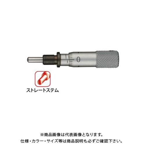 ミツトヨ Mitutoyo マイクロメータヘッド(標準型) 超小型タイプ ストレートステム 先端球面(SR1.5) (148-215) MHT3-5