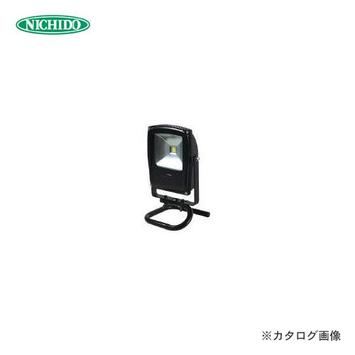 日動工業 フラットライト10W 昼光色 本体黒 床スタンド LEN-F10S-BK