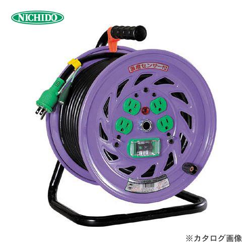 日動工業 100V 一般型ドラム 30m アース付 漏電保護付 NF-EB34