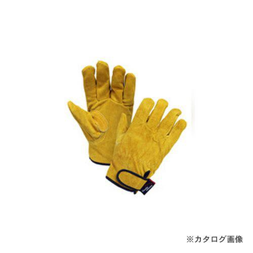 大中産業 [10双入] 牛革手袋 カラー床マジック内綿付 YE260T-LA