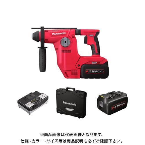 パナソニック Panasonic 充電ハンマードリル 電池2個・充電器・ケース付 (赤) EZ7881PC2S-R