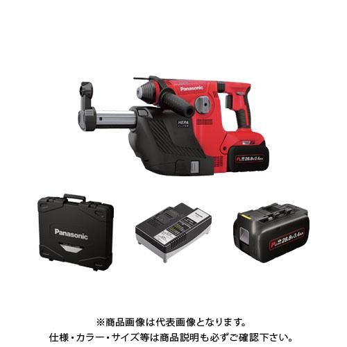 パナソニック Panasonic 充電ハンマードリル・集じんシステム・電池2個・充電器・ケース付 (赤) EZ7881PC2V-R