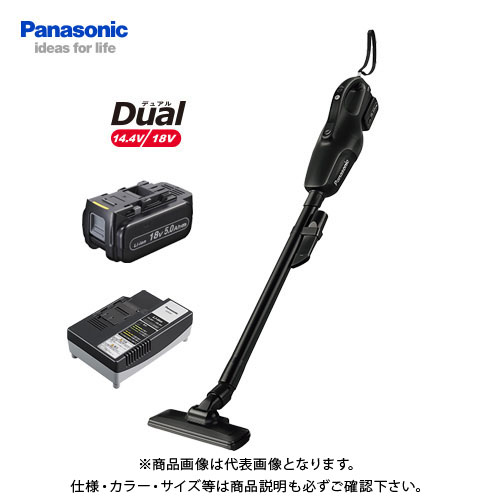 パナソニック Panasonic 工事用 充電コードレスクリーナー ブラック Dual 18V (5.0Ah電池1個付) EZ37A3LJ1G-B