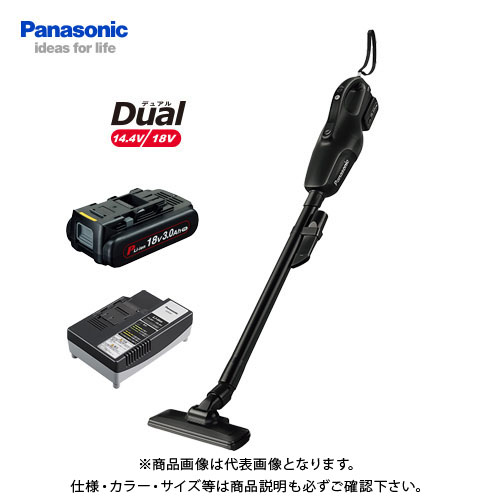 パナソニック Panasonic 工事用 充電コードレスクリーナー ブラック Dual 18V (3.0Ah電池1個付) EZ37A3PN1G-B
