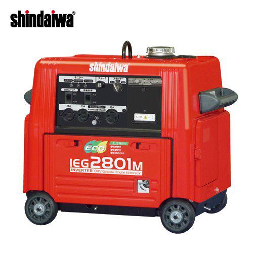【運賃見積り】【直送品】新ダイワ工業 インバータ発電機 ガソリンエンジン IEG2801M