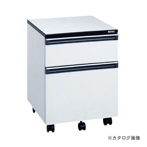 【直送品】サカエ SAKAE 木製キャビネットワゴン LB-2