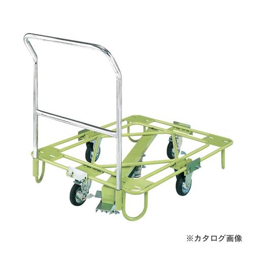【直送品】サカエ SAKAE 自在移動回転台車 軽量型 取手・センターベース付 RA-2FG