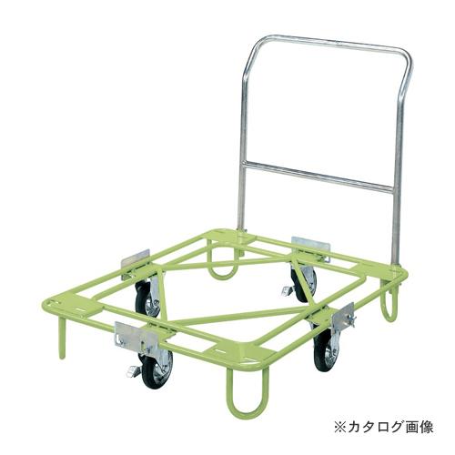 【直送品】サカエ SAKAE 自在移動回転台車 軽量型 取手付タイプ RA-2TG