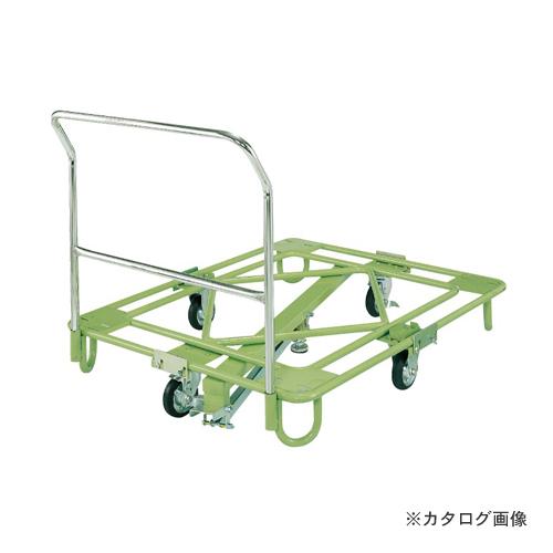 【直送品】サカエ SAKAE 自在移動回転台車 中量型 取手・センターベース付 RB-1FG