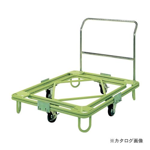 【直送品】サカエ SAKAE 自在移動回転台車 中重量型 取手付タイプ RC-4TG