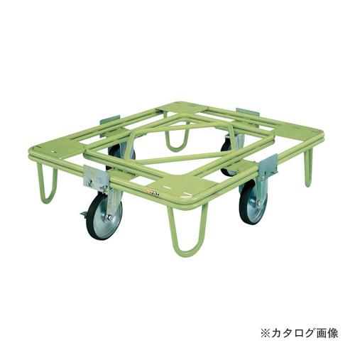 【直送品】サカエ SAKAE 自在移動回転台車 200φゴム車(取手なし) RE-5G