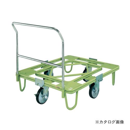 【直送品】サカエ SAKAE 自在移動回転台車 200φゴム車(取手付) RE-4TG