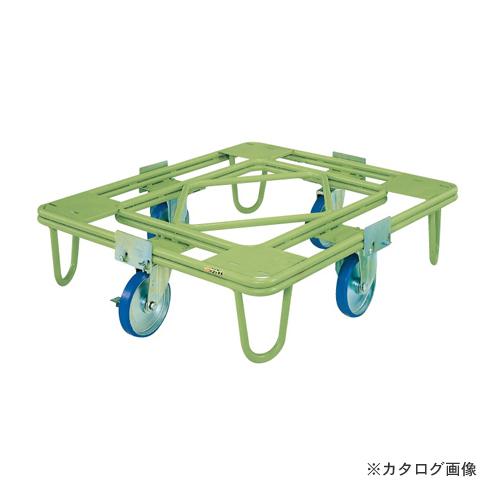 【直送品】サカエ SAKAE 自在移動回転台車 200φウレタン車(取手なし) RE-1UG