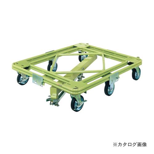 【直送品】サカエ SAKAE 自在移動回転台車 重量型 センターベース付 RH-1KG