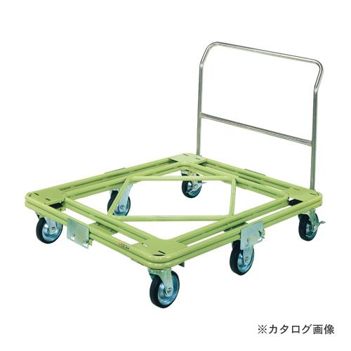 【直送品】サカエ SAKAE 自在移動回転台車 重量型 取手付タイプ RH-3TG