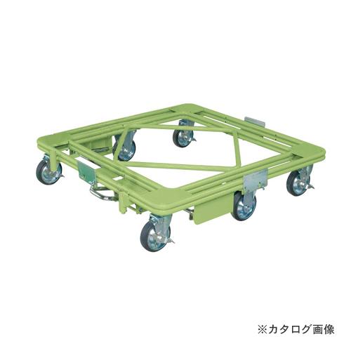 【直送品】サカエ SAKAE 自在移動回転台車 フットブレーキ付 RH-2FBG