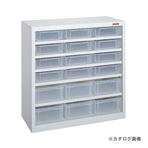 【直送品】サカエ SAKAE コンテナラック・透明コンテナ付 SCR-09B