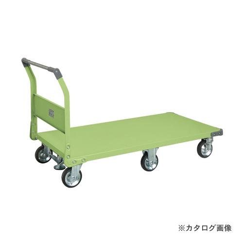 【直送品】サカエ SAKAE 特製六輪車クイックターン フロアストッパー付 TQN-99F