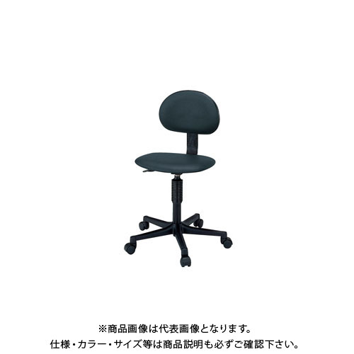 【直送品】サカエ ワークチェアー C1C-BKN