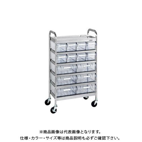 【直送品】サカエ CSワゴン透明ボックス付 CSA-86RSU
