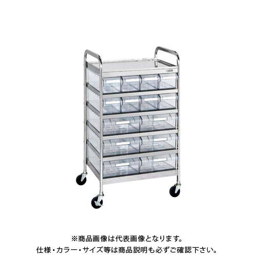 【直送品】サカエ CSワゴン透明ボックス付 CSE-86RSU