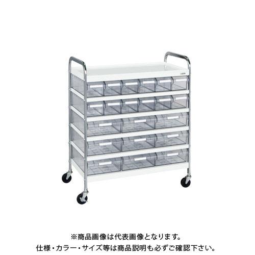 【直送品】サカエ CSワゴン透明ボックス付 CSG-129T