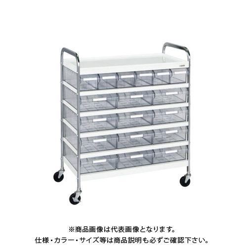 【直送品】サカエ CSワゴン透明ボックス付 CSG-612T