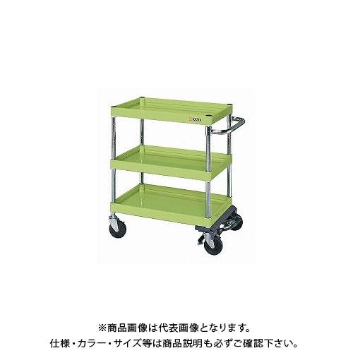 【直送品】サカエ ニューCSパールワゴン フットブレーキ付 CSPA-128BR
