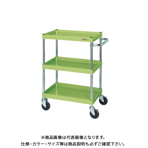 【直送品】サカエ ニューCSパールワゴン(ゴム車・深棚仕様) CSPA-10123F
