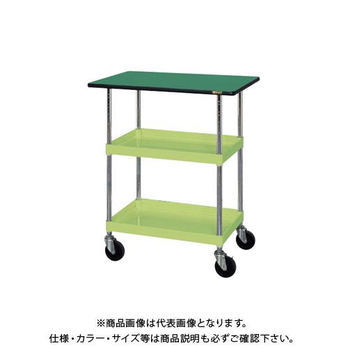 【直送品】サカエ ニューCSパールワゴン(ゴム車・天板付) CSPA-758T